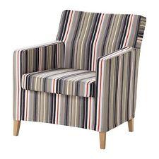 IKEA KARLSTAD Armchair slipcover Beige.Grey/Red, BNIB!!!
