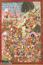 Persian Miniature Painting  Islamic Artwork Antique The Battle of Chaldiran War