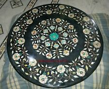 2' black Marble center coffee Dining Table Top Inlay Mosaic Marquetry kitchen