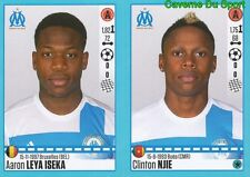 418-419 LEYA ISEKA CLINTON NJIE OLYMPIQUE MARSEILLE STICKER FOOT 2017 PANINI