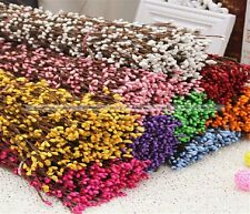 Only White Pip Berry Stem Floral Head Ring Crafts Wedding Garland 100PCs S4