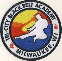 "Tri-City Black Belt Academy Milwaukee WI Wisconsin Karate 4"" Round Patch"