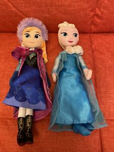 Disney Princess Frozen Film Anna And Elsa Soft Toy Dolls Plush