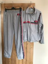Puma - Vintage Grey Shell Suit - Top And Bottoms - Size Medium M