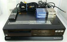 New ListingSony SuperBeta HiFi Sl-Hft7 Stereo Vcr, Remote, Instructions 2 New BetaMax Tapes