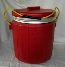 Rare Vintage Red Heavy Duty Weighted Minnow Bait Bucket