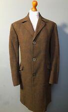 Vintage 1960's Savile Row bespoke tweed overcoat size 40 long
