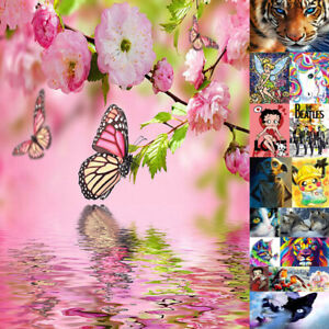 Full Drill Butterfly 5D Diamond Painting Embroidery Craft Picture Art Add3,Free1