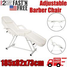 Hydraulic Barber Chair Salon Hair Styling Beauty Spa Shampoo Equipment - White