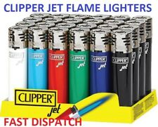 CLIPPER JET FLAME WINDPROOF LIGHTERS, REFILLABLE, WIND RESISTANT, ADJUSTABLE FLA