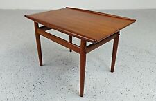 mid century Danish modern teak Grete Jalk side table
