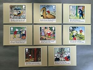 RUPERT BEAR 2020 FULL SET OF 8 NEW PHQ CARDS IN ORIGINAL CELLOPHANE