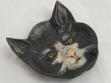 COLD PAINTED BRONZE CAT FACE BOWL