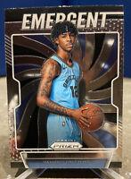 2019-20 Panini Prizm Emergent JA MORANT Rookie RC #17, Memphis Grizzlies