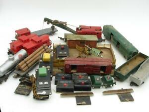 American Flyer S Gauge Car and Accessory Operating Lot Parts / Fix Mics 29 Pcs