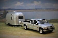 1999 - 2007 Chevy Silverado + Airstream Camper Custom 1/64 collectible models