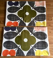 Orla Kiely 2 Reversible Housewife Pillowcases Placement Flower Tile Cotton New o