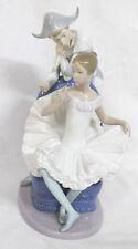 Vintage Porcelain Nao Figure. Harlequin w/Ballerina Large