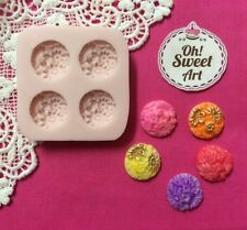 Buttons Flowers  silicone mold cake wax soap food decorating cupcake molds FDA