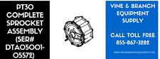 PT30 COMPLETE SPROCKET ASSEMBLY (SER#DTA05001 - 05572)