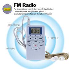 Radio Das Beste Neue Mini Tragbare Lcd Fm Radio Digital Signal Verarbeitung Drahtlose Empfänger Mit Kopfhörer Radios 2019 Neue Unterhaltungselektronik