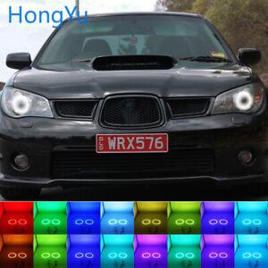 Multi-Color LED Angel Eyes Halo Rings Kit for Subaru Impreza WRX STI 2006-2007