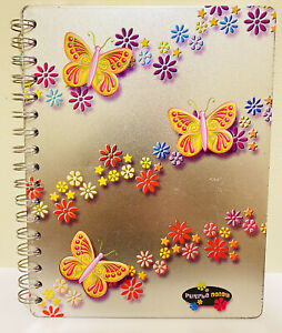 Purple Daisy Journal Metal Cover Avalanche Publishing Notebook Butterfly Flowers