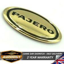 Gold Oval Badge Mitsubishi Pajero Bonnet Hood Grill Tailgate Trunk 90x42mm