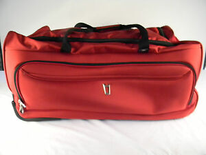 """Delsey Helium Breeze 2.0 Luggage 30"""" Trolley Duffel - Red"""