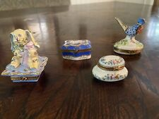 Beautiful Limoge Trinket Boxes; The Small Round Box Is a Dubarry From France
