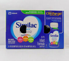 NEW SIMILAC ADVANCE ON THE GO READY TO FEED LIQUID 8 oz. FORMULA BOTTLES
