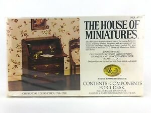 The House of Miniatures Chippendale Desk Kit #40017 Dollhouse Furniture