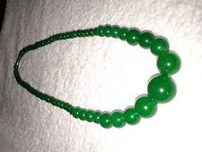 Collier en perles de jade vert