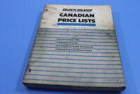 OEM MERCURY 1990 QUICKSILVER CANADIAN PRICE LISTS PT# 90-812962-90