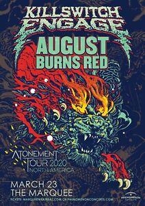"KILLSWITCH ENGAGE ""ATONEMENT TOUR 2020"" PHOENIX,AZ CONCERT POSTER - Metalcore"