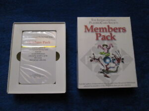 Playing Cards Members Pack The International Society Original Package Box