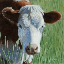 Moo by Terry Isaac Art Print Cow Farm Cowboy Cattle Ranch Western Poster 11x14