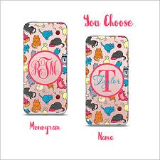 Clear Transparent Cell Phone case  Monogram iPhone X / 6 / 7 / 8 & Plus