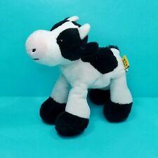 "Wild Republic Cow black White Plush Lil Finger Puppet Realistic Soft 7"""