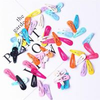 30pcs/set Girls Candy Color Paint Hair Snap Clip Hairpin Barrette