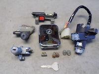 82 Kawasaki KZ 750 H LTD Lock Set Key Ignition Switch Gas Cap Seat Latch Helmet