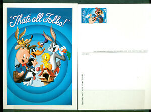 2001 PAIR of Postcards in Mint Condition honoring Porky Pig
