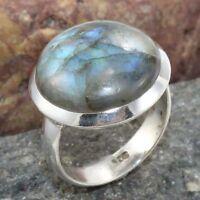 Labradorite 925 Sterling Silver Ring Gemstone Traditional Jewelry