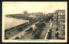 Civitavecchia ( Roma )  : Viale Garibaldi - cartolina viaggiata anni '20/'30