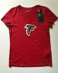 Under Armour Women's Atlanta Falcons NFL Combine V Neck T Shirt  Medium Save 40%