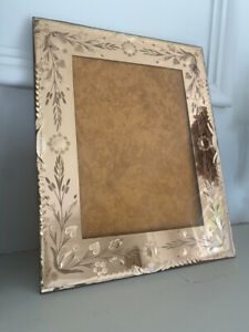 Vintage Antique Pink Venetian Glass French Photo Picture Frame