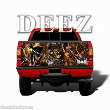 Reaper Skull Blaze Camo TAILGATE WRAP Graphic Decal Truck Camouflage Universal