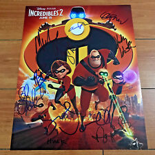 INCREDIBLES 2 SIGNED 11x14 MOVIE POSTER PRINT BY 10 CAST w/ PROOF HOLLY HUNTER
