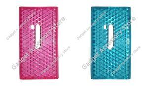 Hybrid Silicone Gel TPU Honeycomb/Diamond Patterned Case for Nokia N9 Lumia 800