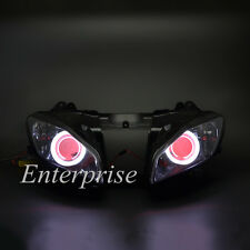 Projector Headlight HID White Angel Red Demon Eyes for Yamaha YZF R6 2008-2013